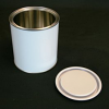 Non Lacquered Tin With Lid, 0.25 Litre - White
