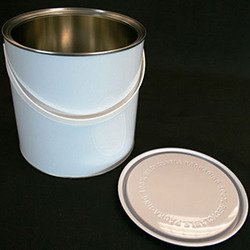 Non Lacquered Tin With Lid, 2.5 Litre - White